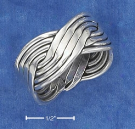 Sterling Silvre Twisted Contrivance Band Ring