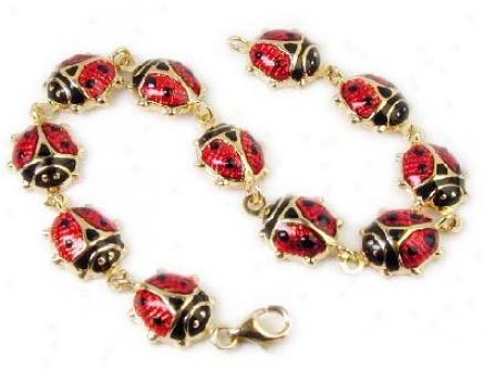 Stunning Enamel Ladybug Bracelet