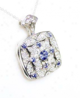 Tanzanite &am; Diamond Antique Locket