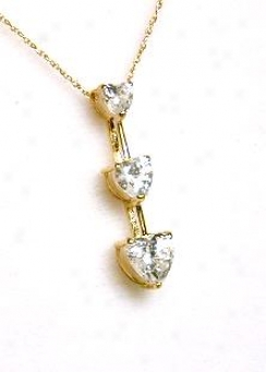 Three Free from ~s Heart Shaped Cubic Cz Pendang