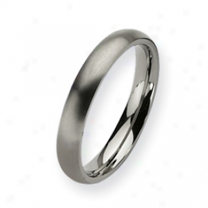 Titanium 4mm Brushed Band Ring - Size 13