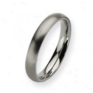 Tittanium 4mm Brushed Band Ring - Size 6.5
