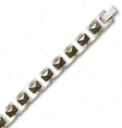Titanium Mens Stylish Bracelet - 8.5 Inch