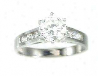 Traditional Cubic Zirconia Cz Engagement Ring