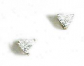 Trilliant Cz Stud Earrings