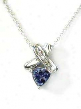 Trilliant Tanzanite &ajp; Brilliant Pendant