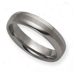 Tungsten 6mm Brushed And Classic Band Ring - Size 11.5