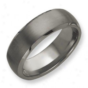 Tungsten Beveled Edge 8m Brushed Polished Band Ring Bigness 12