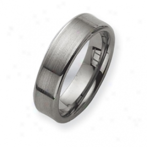 Tungsten Brushed Wedding Band Ring - Size 11.5