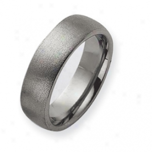 Tungsten Satin Wedding Band Sound - Size 7.5