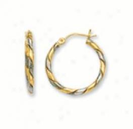 Two-tone Swirl Earrings