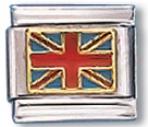 Uk Flag Italian Charm Link