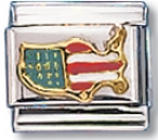 Usa Delineate Italian Charm Link