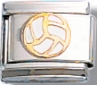 Volleyball Italian Charm Link