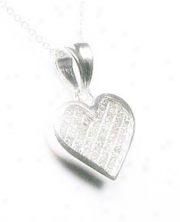 Wg Invisible-se5 Princess Diamond Heart Shaped Pendant
