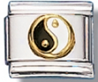Ying And Yang Italian Charm Link