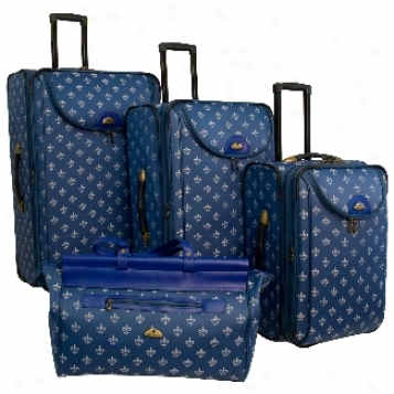 American Flyer Pattern Sets Lyon 4-piece Luggage Set