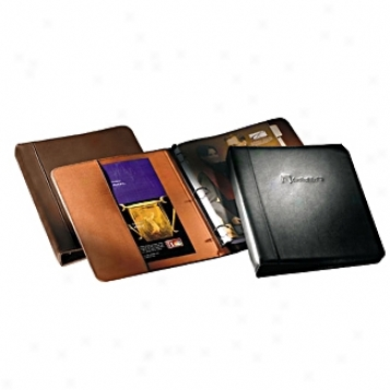 Andrew Philips Leather Goods  1in. 3-ring Binder