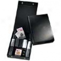 Andrew Philips Leather Goods  Deluxe Poker Set
