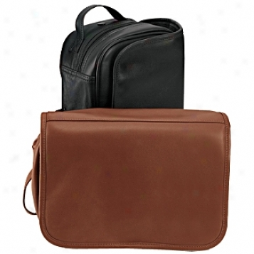 Andrew Philips Leather Goods  Hanging Toiletry Bag