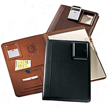Andrew Philips Leather Goods  Legal Slze Pad Holder With Pneumatic Calculator