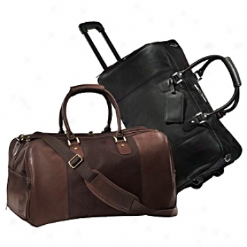 Andrew Philips Leather Goods  Metro Duffel On Wheels