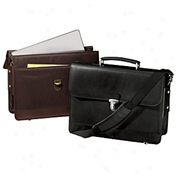 Andrew Philips Leather Goods  Merro Flapover Laptop Briefcase