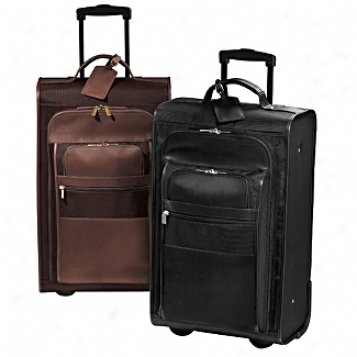Andrew Philips Leather Goods  Metro Suitcase On Wheels
