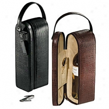Andrew Pholips Leather Goods  Single Wine Case