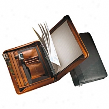 Andrew Philips Leather Goods  Vaqueta 1in. 3-ring Binder