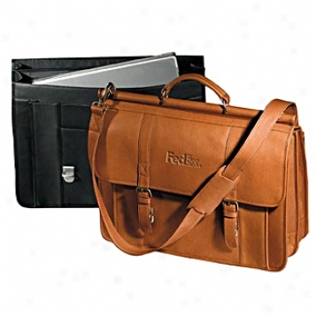 Andrew Pholips Leather Goods  Vaqueta Dowel Wand La0top Briefcase