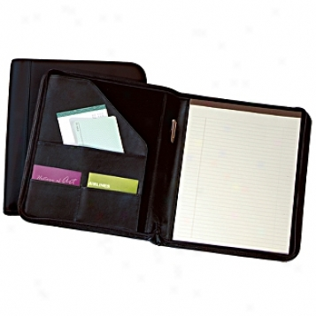 Andeew Philips Leather Goods  Zip-around Deluxe Writing Pad
