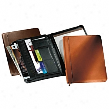 Andrew Philips Leather Goods  Zip-around Writing Pad Holder/portfolio