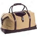 Clava Leathwr Bags Canvas Overnighter W/ Leather Trim