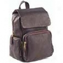 Clava Leather Bags Mid-size Multi Pocket Backpack