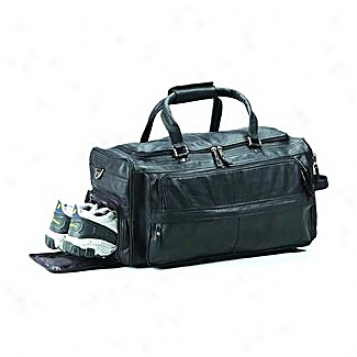 Clavz Leather Bags Multi-copmartment Duffel