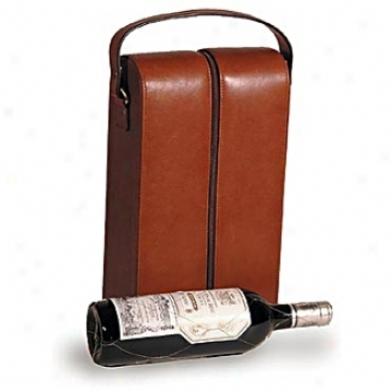 Clava Leather Bags Two Bottle Wine Holder