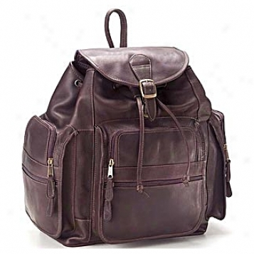 Clava Leather Bags Xl Drawstring Leather Backpack