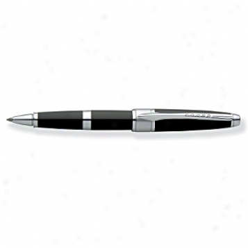 Cross Pen Collection Apogee Black Star Lacquer Selectiprolling Ball Pen
