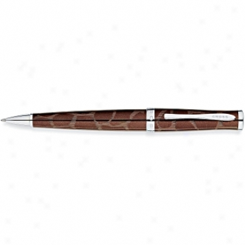 Cross Pen Collection Sauvage Tourmalline/giraffe Pattern Ballpoint Pen