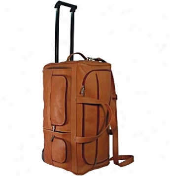 David King Leather Effects 20in. Rolling Duffel