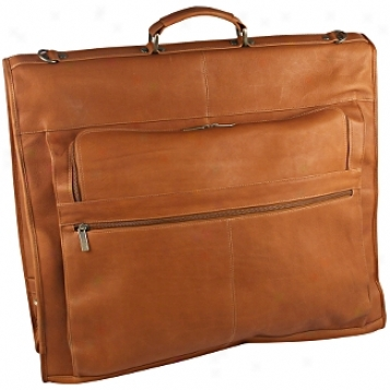 David King Leather Luggage 42in. Deluxe Garment Bag