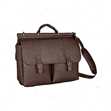 Dqvid King Leather Luggage Dowel Latop Briefcase