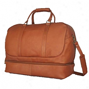 David King Leather Luggage Duffle With Bottom Division