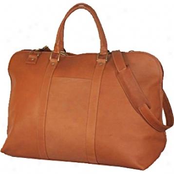 David King Leather Luggage Duffke W/large Opening