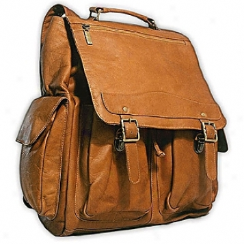 David King Leather Luggage Jumbo Backpack