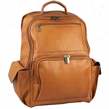 David King Leather Luggage Large Computer Backpack