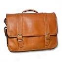 David King Leather Luggage Porthole Computer Briefcase