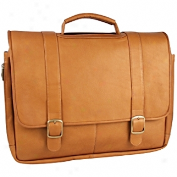 David King Leather Luggage Porthole Laptop Briefcase