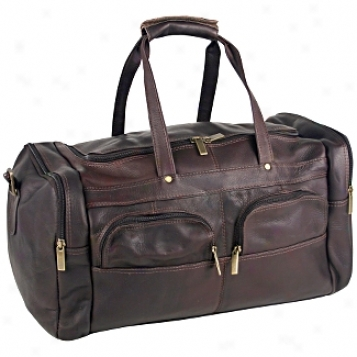 David King Leather Baggage Sport Duffel Bag